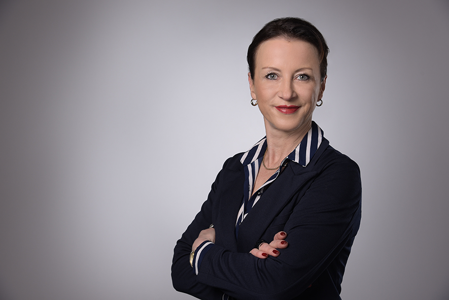 Moderatorin Katrin Feldmann